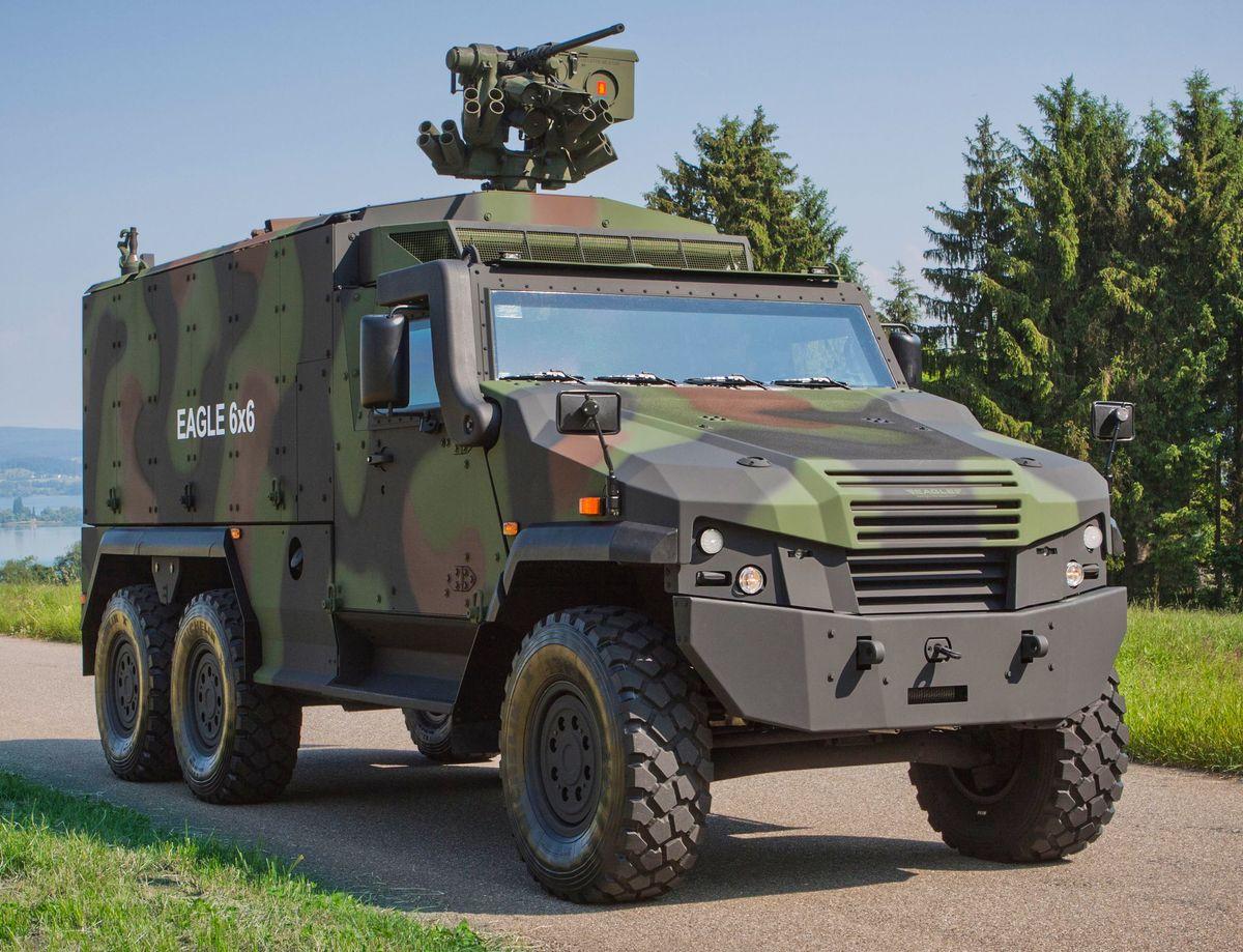 L'office fédéral Armasuisse a confirmé l'achat de 100 véhicules blindés Eagle V © GDELS