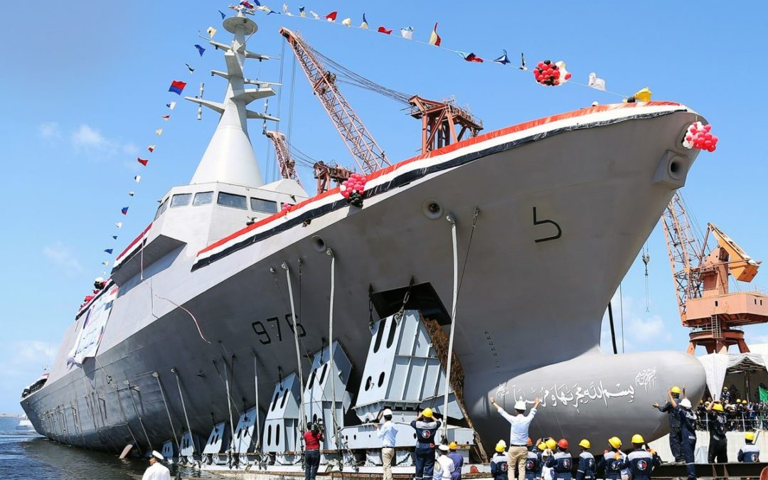 La dernière des quatre corvettes du type Gowind a été mise à l'eau au chantier Alexandria Shipyard