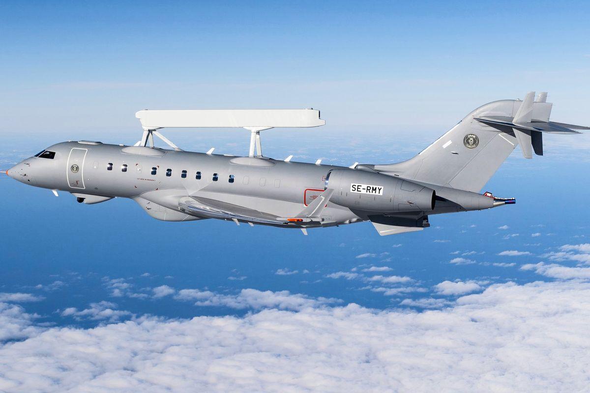 Saab a livré le premier avion d'alerte aérienne avancée GlobalEye aux Émirats Arabes Unis © Saab
