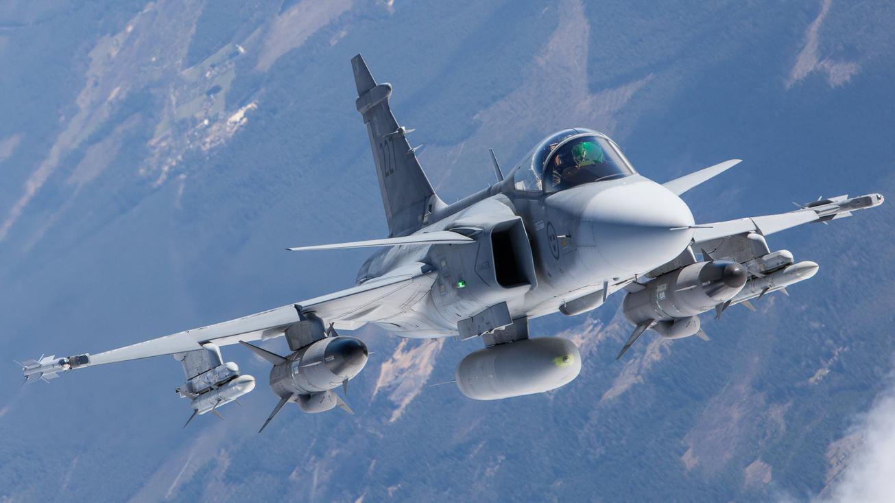 Saab a testé en vol pour la première fois son radar AESA © Saab