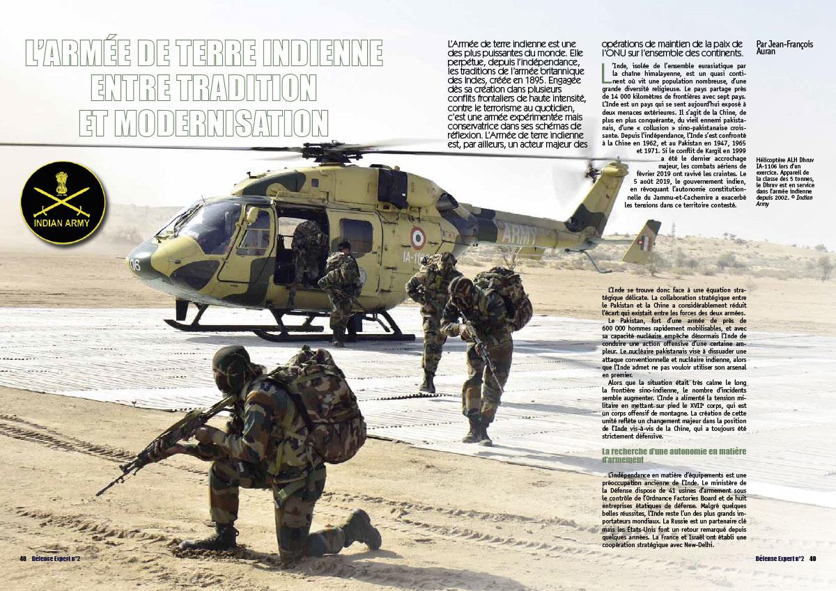 Extrait du Défense Expert n°2 L'armée de terre Indienne page 48