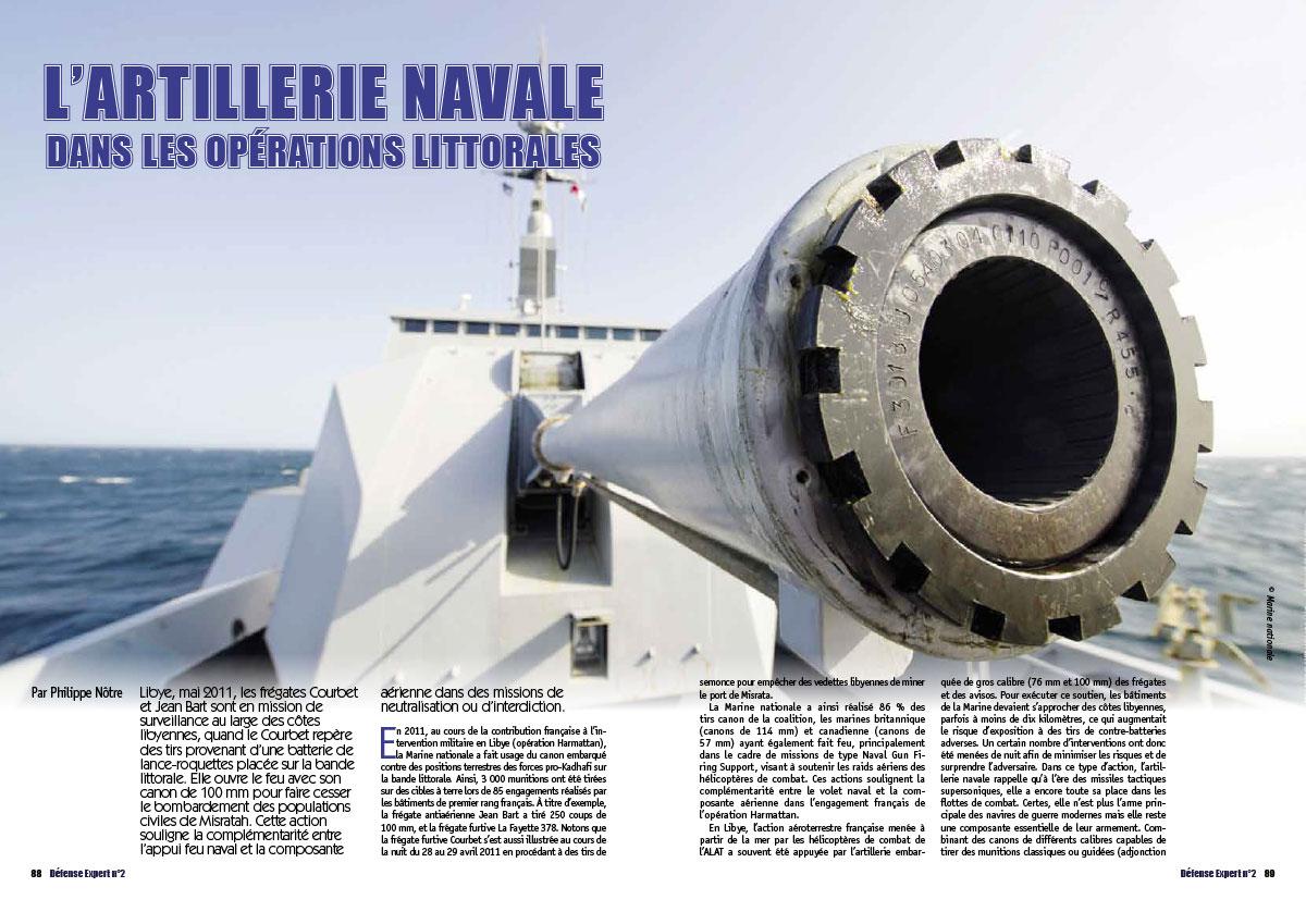 Extrait du Défense Expert n°2 L'artillerie Navale dans les opérations littorales page 88