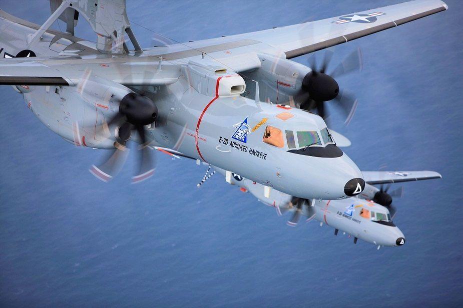 Le Département d'État américain donne son accord à la vente de trois E-2D Advanced Hawkeye à la France