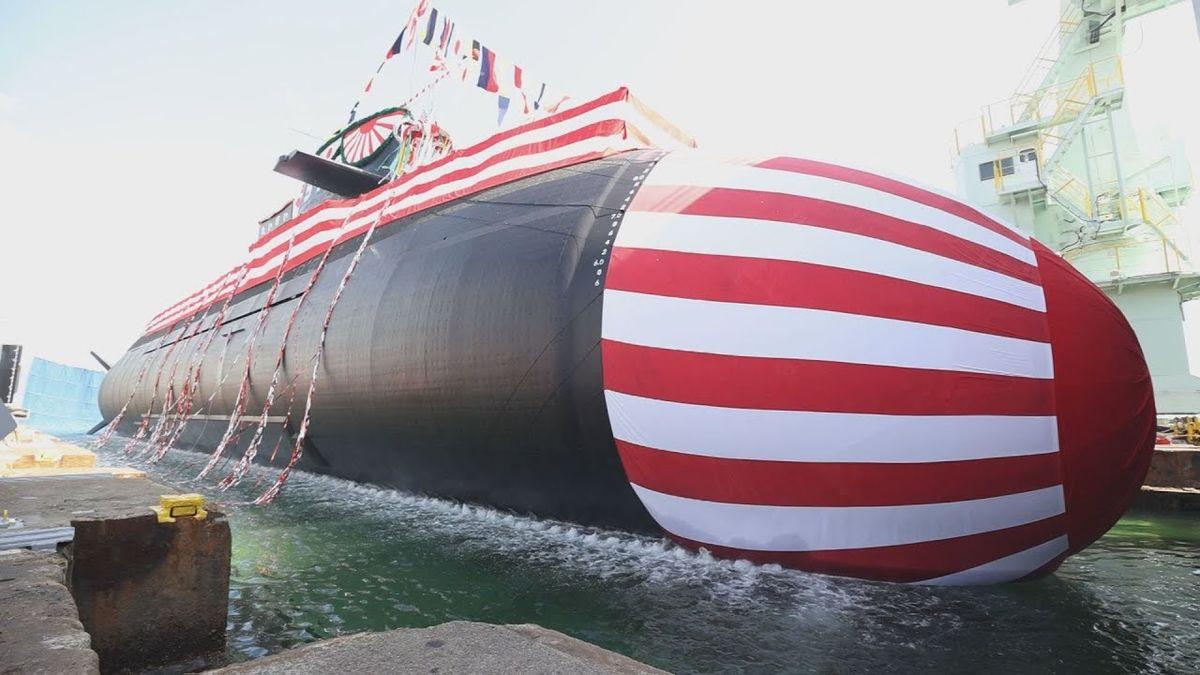 Mitsubishi Heavy Industries a effectué la mise à l'eau du sous-marin diesel-électrique Taigei © JMSDF