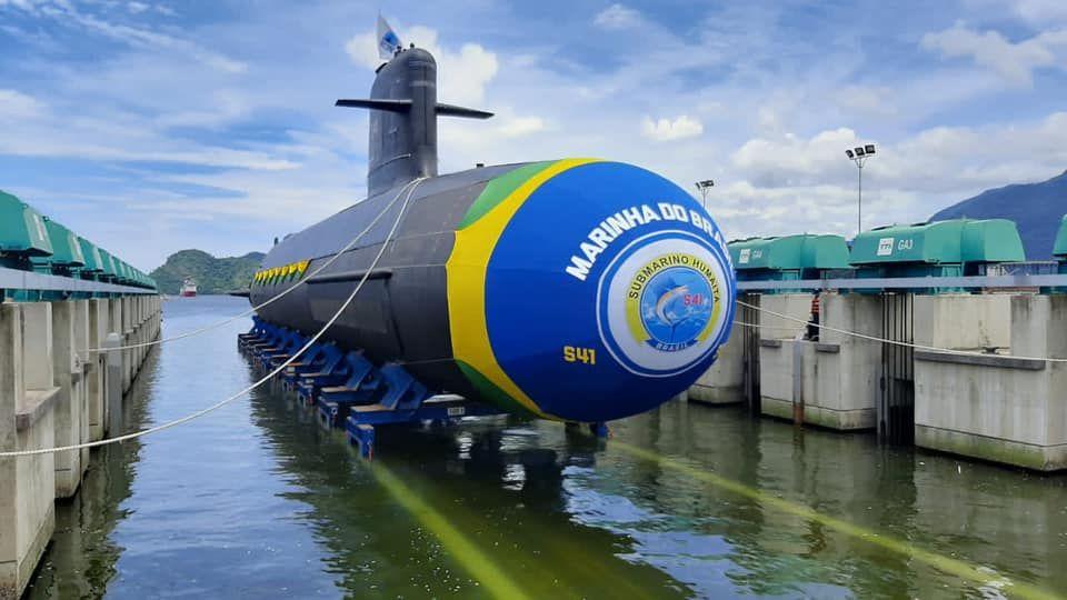 L'Humaita (S41), Scorpène brésilien, a été mis à l'eau le 11 décembre 2020
