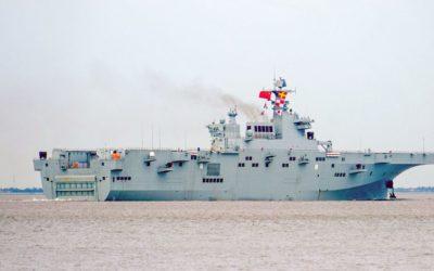 Mise à l'eau du troisième navire d'assaut amphibie de Type 075