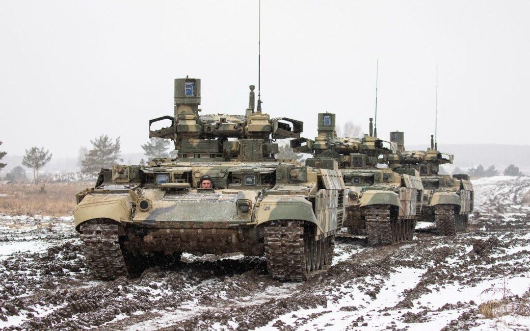 L'armée russe réalise l'évaluation de l'emploi tactique des véhicules blindés de combat lourds BMPT Terminator