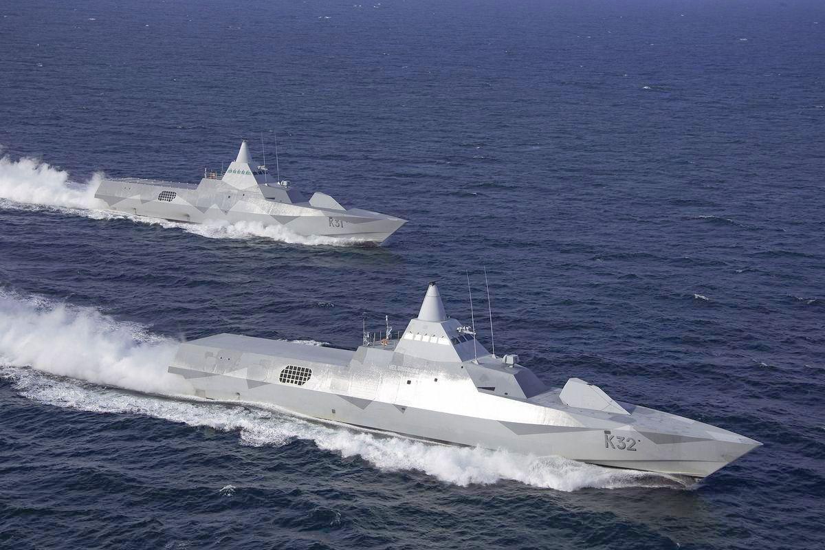 Saab Group et ministère de la Défense suédoise : corvettes furtives classe Visby